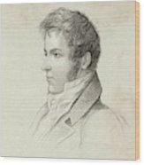 Washington Irving  American Writer Wood Print