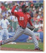 Washington Nationals V Chicago Cubs 3 Wood Print
