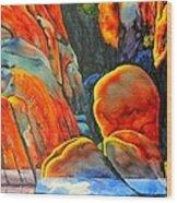 Watson Lake Wood Print by Robert Hooper