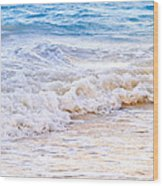 Waves Breaking On Tropical Shore Wood Print by Elena Elisseeva