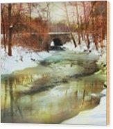 Winter Waters Wood Print
