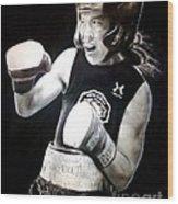 Woman's Boxing Champion Filipino American Ana Julaton Wood Print