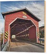 Wooden Covered Bridge  Wood Print by Ulrich Schade