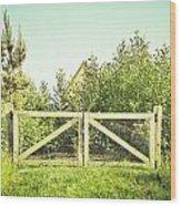 Wooden Gate Wood Print