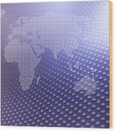 World Map In Dots Against An Abstract Wood Print