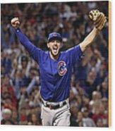 World Series - Chicago Cubs V Cleveland Wood Print