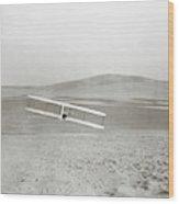 Wright Brothers Kitty Hawk Glider Wood Print