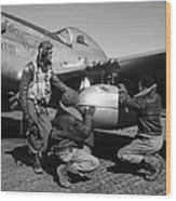 Wwii: Tuskegee Airmen, 1945 Wood Print by Granger