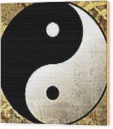 Yin And Yang 4 Wood Print
