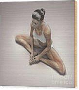 Yoga Bound Angle Pose Wood Print