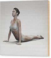 Yoga Cobra Pose Wood Print