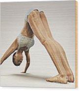 Yoga Downward Facing Dog Pose Wood Print