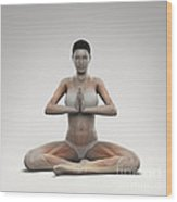 Yoga Meditation Pose Wood Print