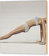 Yoga Upward Plank Pose Wood Print