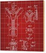 Zipper Patent 1914 - Red Wood Print