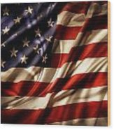American Flag Rippled Wood Print