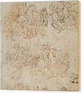 Italy, Veneto, Venice, Accademia Art Wood Print