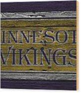 Minnesota Vikings Wood Print