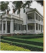 Rosedown Plantation Wood Print by Photo Advocate