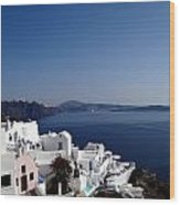 Views Of Santorini Greece Wood Print