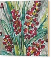 Zenmoksha Flowers Wood Print