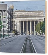 30th Street Station From Jfk Blvd Wood Print