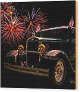31 Five Window Coupe On The Fourth Of July Wood Print