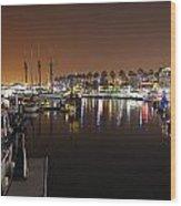 Long Beach Marina- California Wood Print