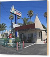 Route 66 - Wigwam Motel Wood Print