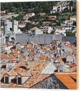Views Of Dubrovnik Croatia Wood Print