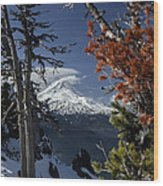Mt Hood From Lookout Mtn Wood Print
