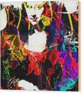 31x48 Mona Lisa Screwed - Huge Signed Art Abstract Paintings Modern Www.splashyartist.com Wood Print