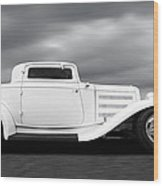 32 Ford Deuce Coupe In Black And White Wood Print