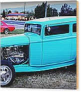 32 Ford Victoria Two Door Wood Print