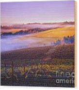 In A Vineyard Wood Print