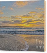 Ocean Beach Pier Sunset Wood Print