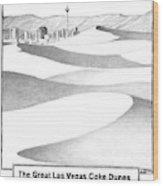The Great Las Vegas Coke Dunes Wood Print