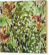 Zenmoksha Flowers Wood Print