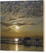 An Outer Banks Of North Carolina Sunset Wood Print