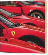 Ferrari Emblem Wood Print