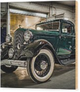 '33 Plymouth Wood Print