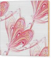 Seamless Background Fractal Wood Print