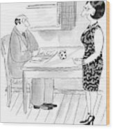 We Need To Talk - Let's Have Conversation No. 52a Wood Print
