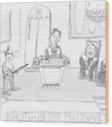 New Yorker April 23rd, 2007 Wood Print