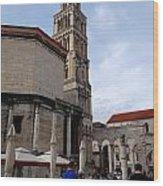 Views Of Split Croatia Wood Print