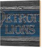 Detroit Lions Wood Print