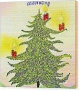 347 - A Christmas Card Wood Print