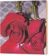Roses For You  Wood Print by Gornganogphatchara Kalapun
