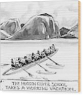 The Hudson River School Takes A Working Vacation Wood Print
