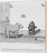 A Fire Hydrant Wood Print